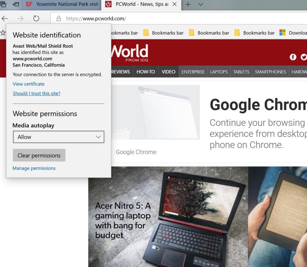 Microsoft edge autoplay videos primary