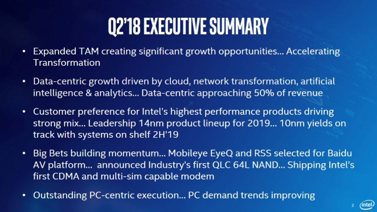 intel earnings slide
