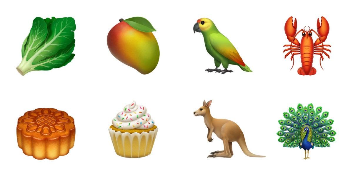 ios12 emoji food animals