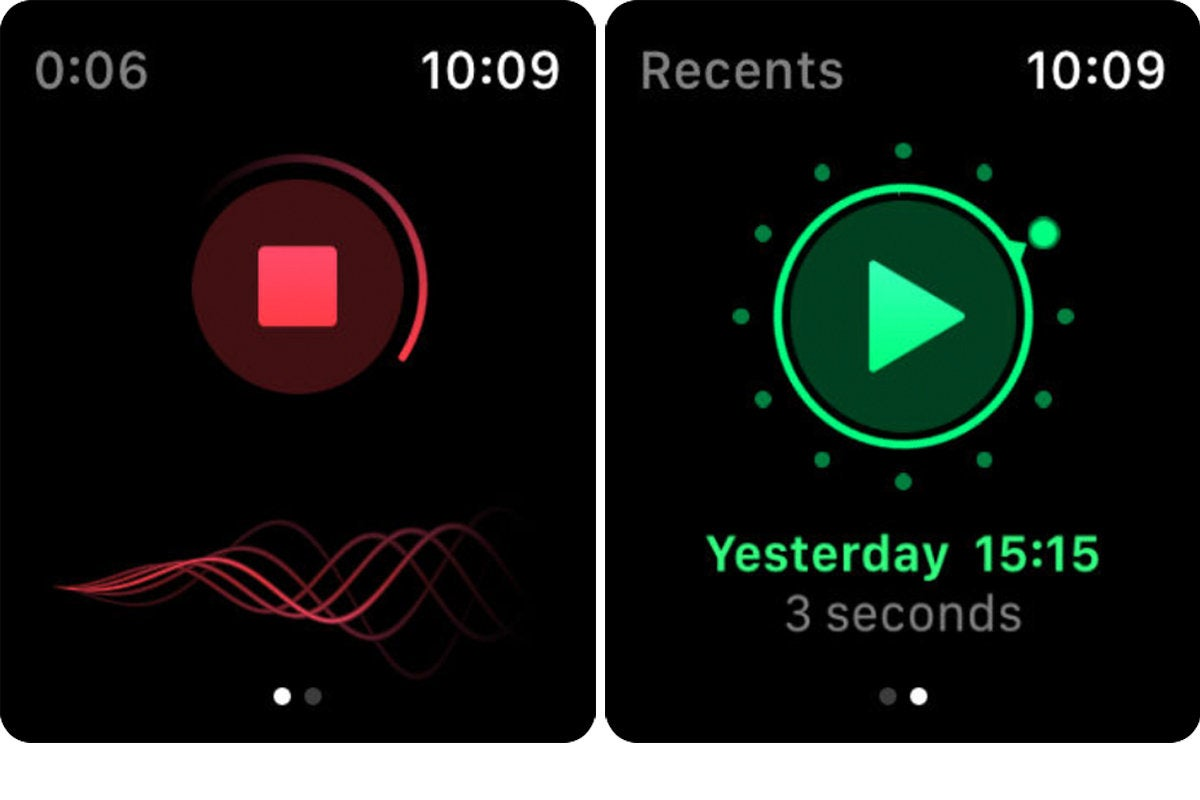 just press record apple watch