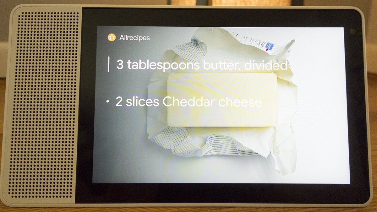 lenovo smart display recipe
