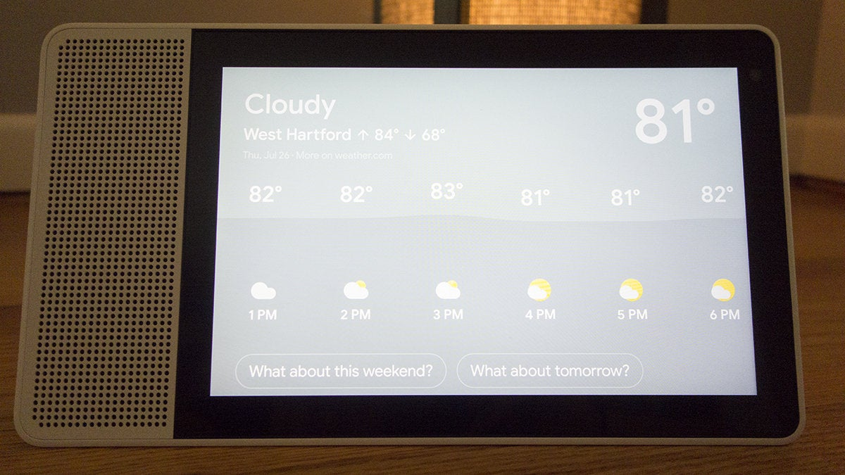 lenovo smart display weather