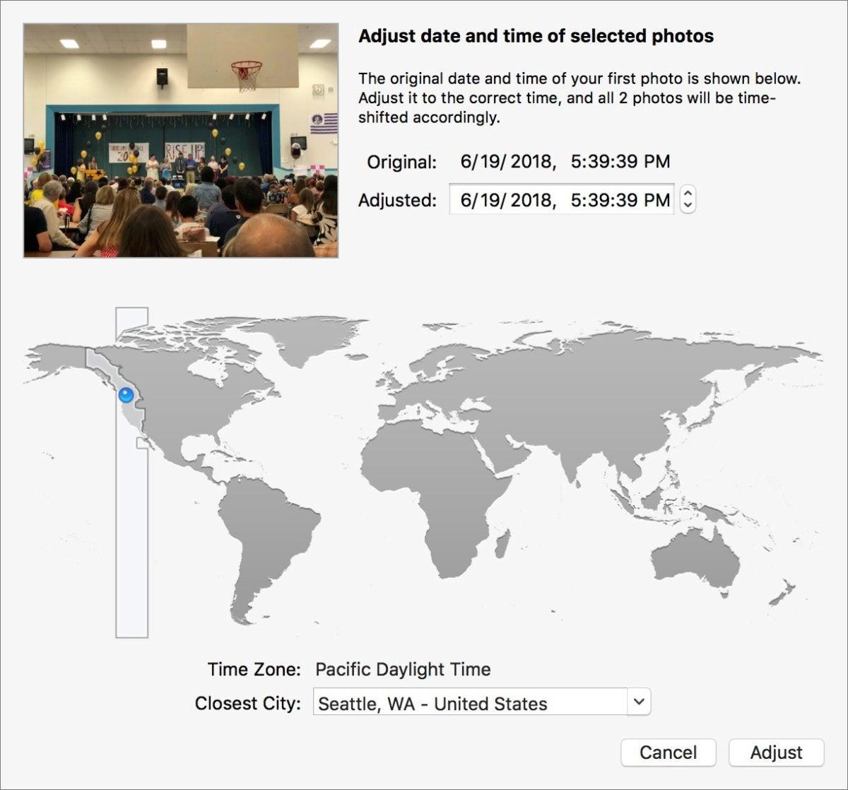mac911 adjust date and time photos