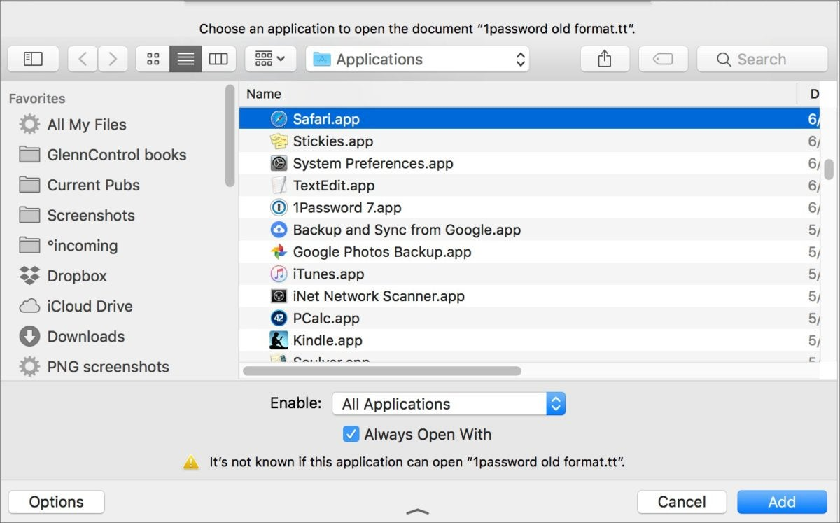 mac911 assign apps to file types