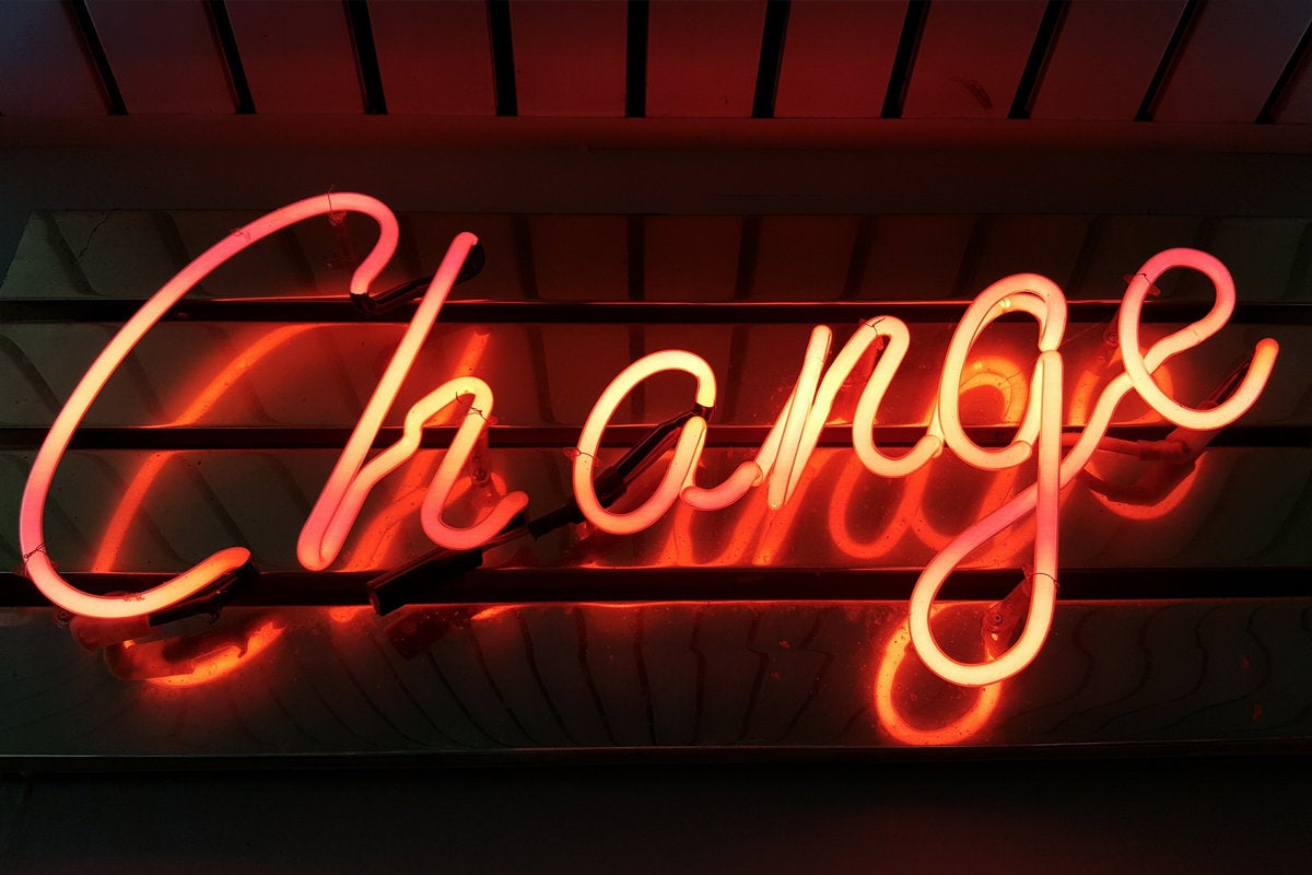 pretty nice ec6f0 c88ff neon sign change management agent career promotion shift start begin by  ross findon via unsplash