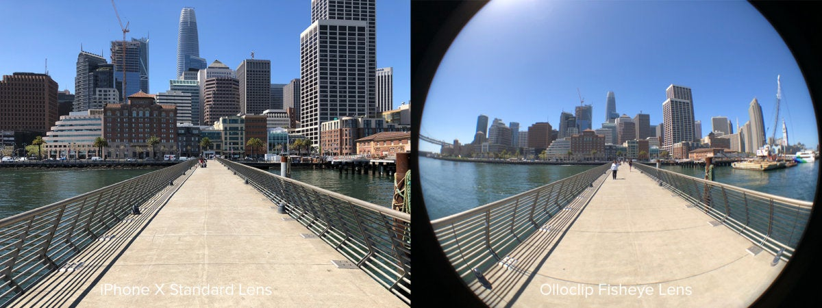 Olloclip fisheye comparison SF skyline