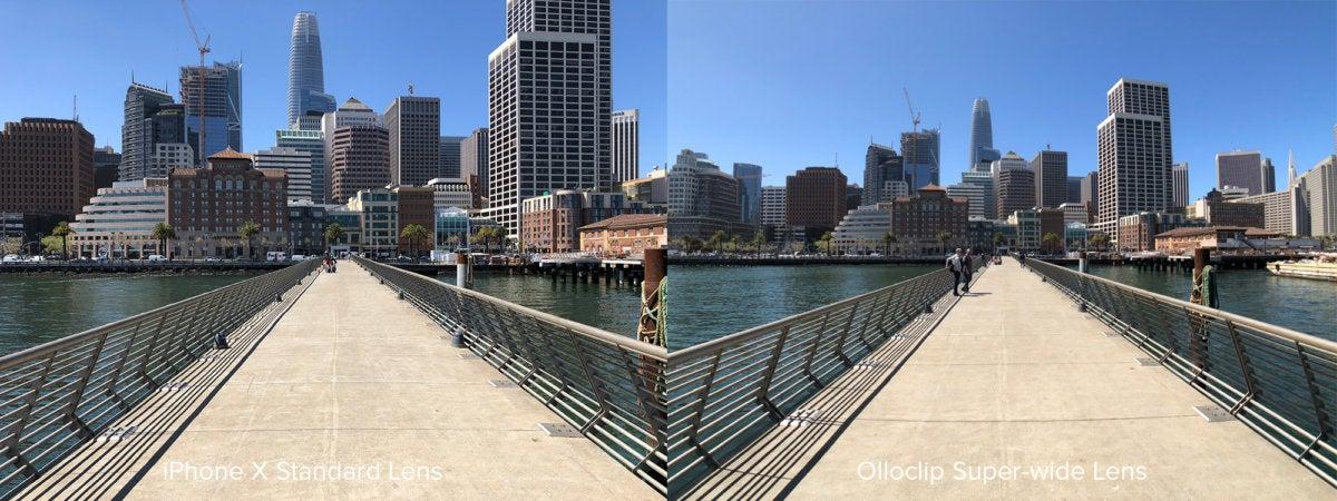 Olloclip wide comparison SF skyline