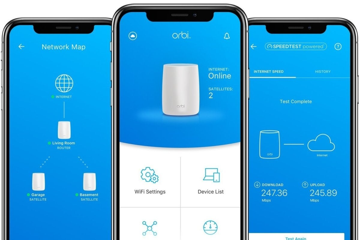 orbi home mesh wifi system iphonex controls