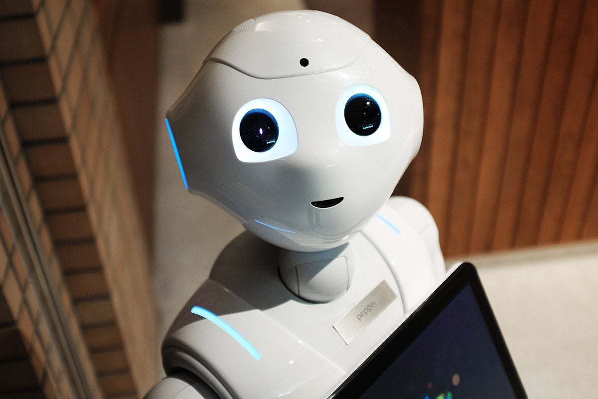 Pepper, a humanoid robot by Softbank Robotics