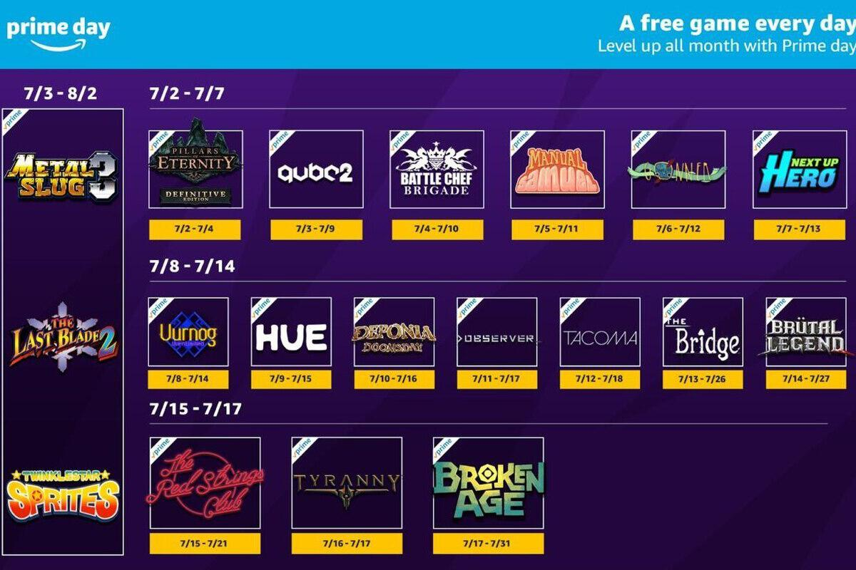 Here's all 21 free games available through Twitch for Prime