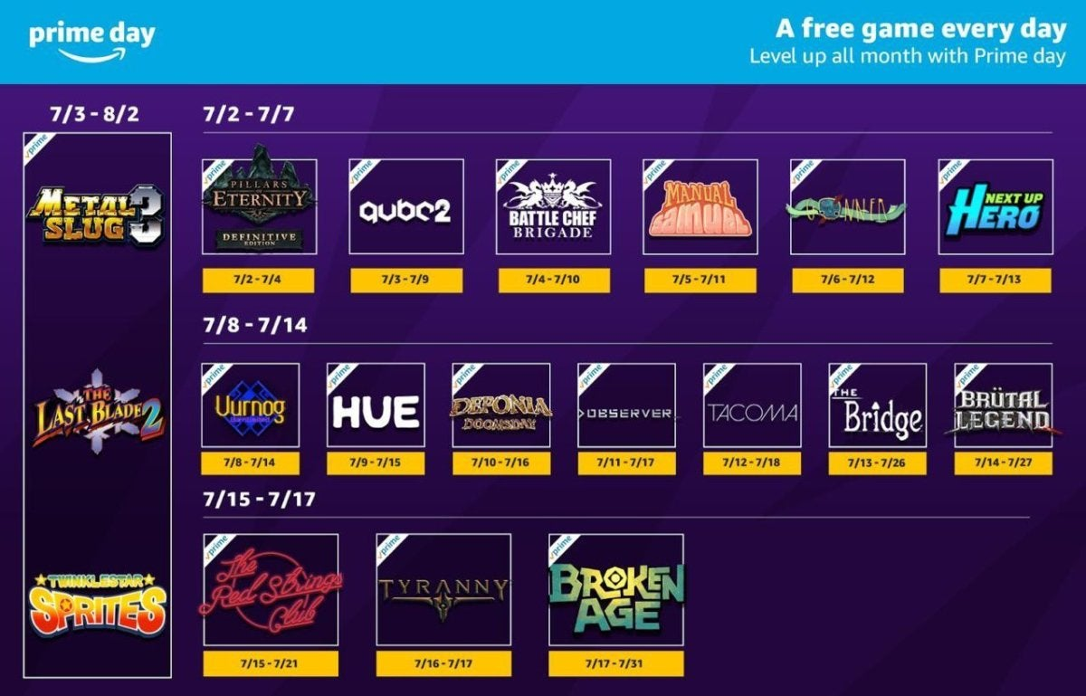 prime day free twitch games