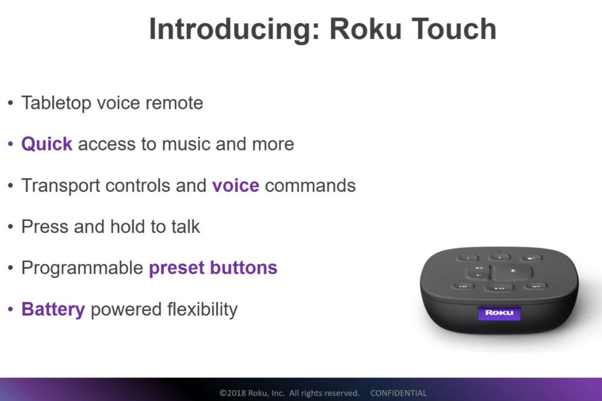 roku touch tabletop remote