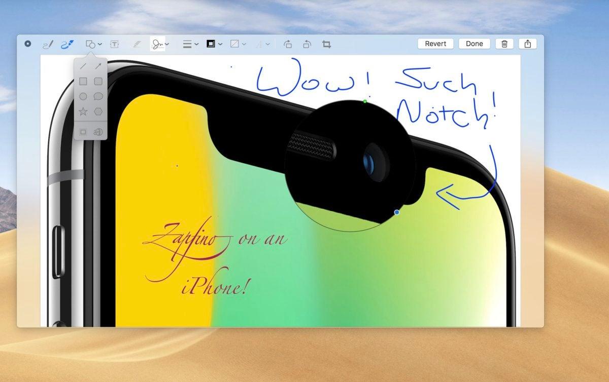 Markup on macOS Mojave