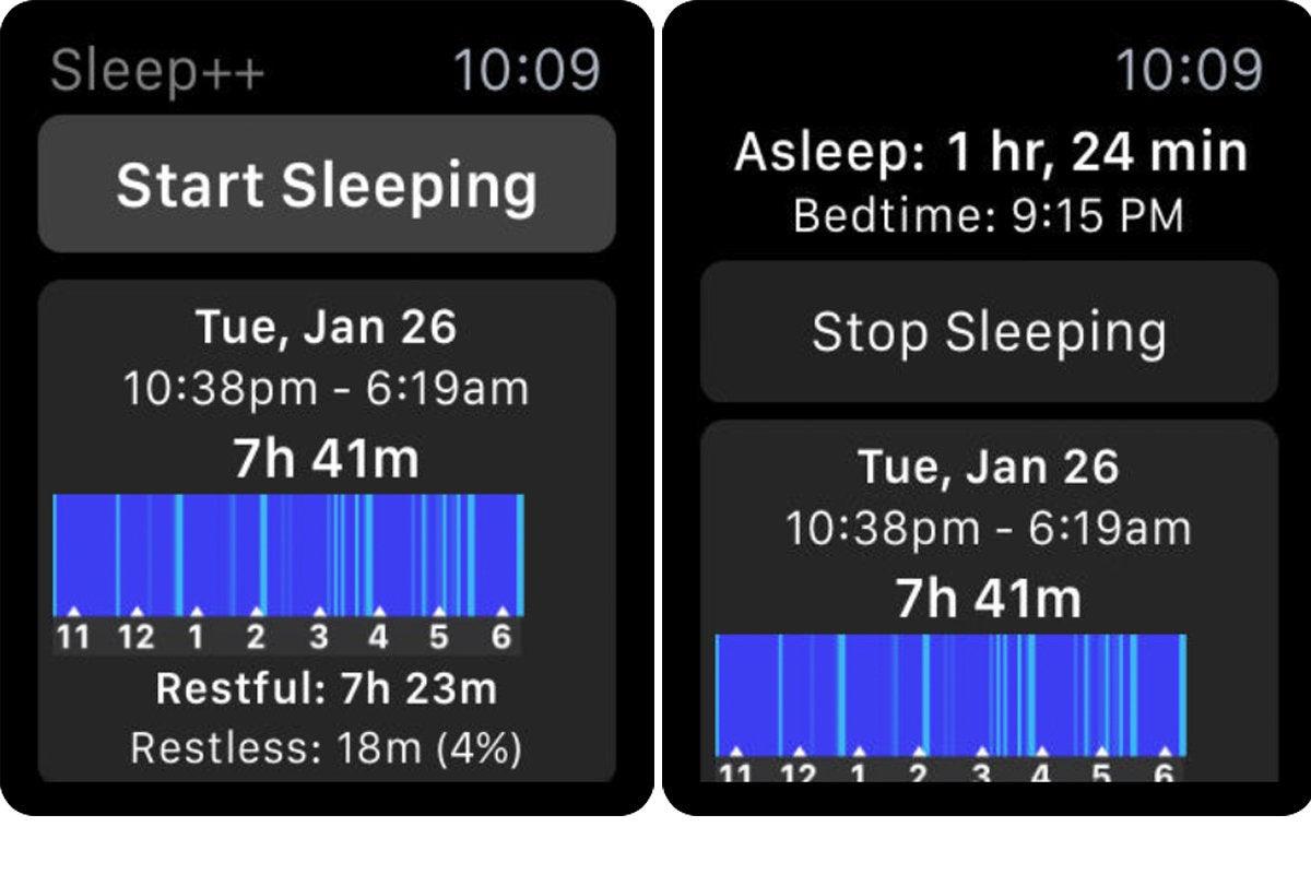sleep++ apple watch