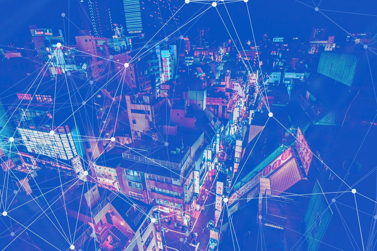 smart city abstract iot blue by benjamin hung unsplash