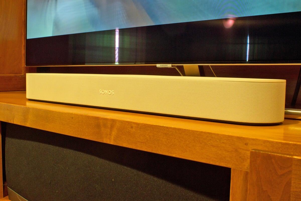 sonos beam with samsung q7f smart tv