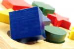 square peg in a round hole / wooden block shapes toy
