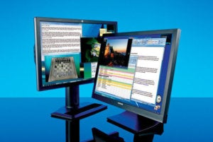 two monitors dual display