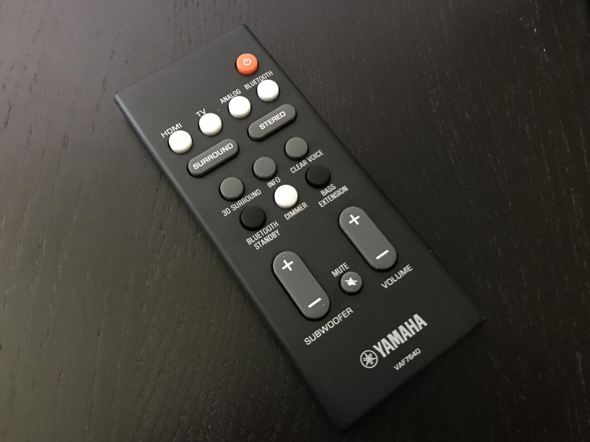 The included remote is excellent.