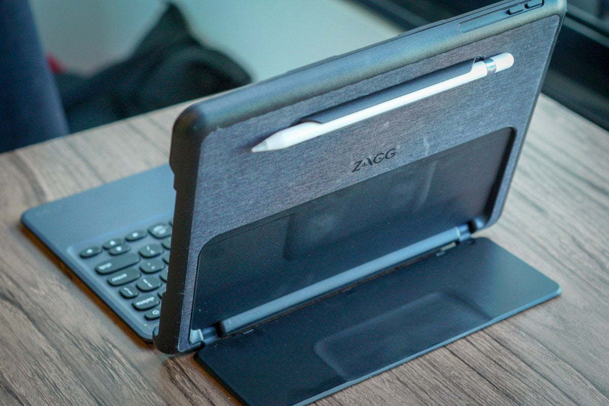 zagg nomad book ipad keyboard case stand