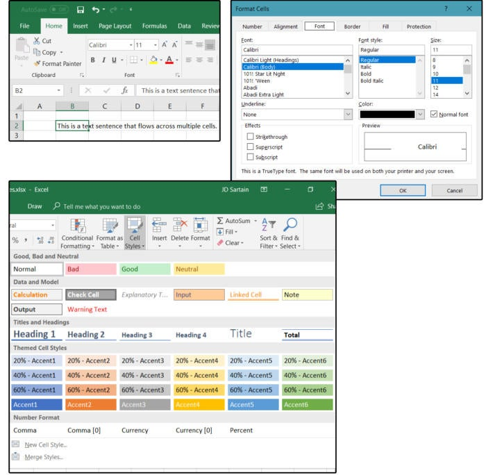Excel Stylesheets: Cell Styles and Smart Art, Drawing, Graphics