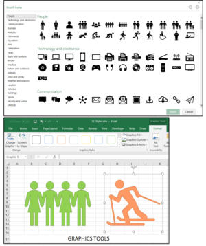 08 insert an icon format with the graphics tools