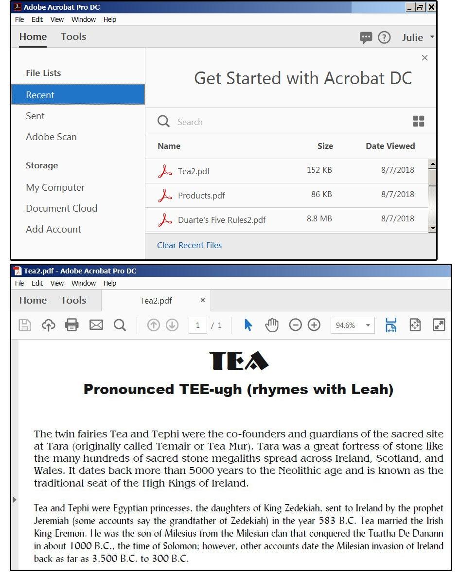 Open a PDF file to a set destination