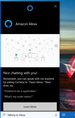 Microsoft Cortana Amazon Alexa