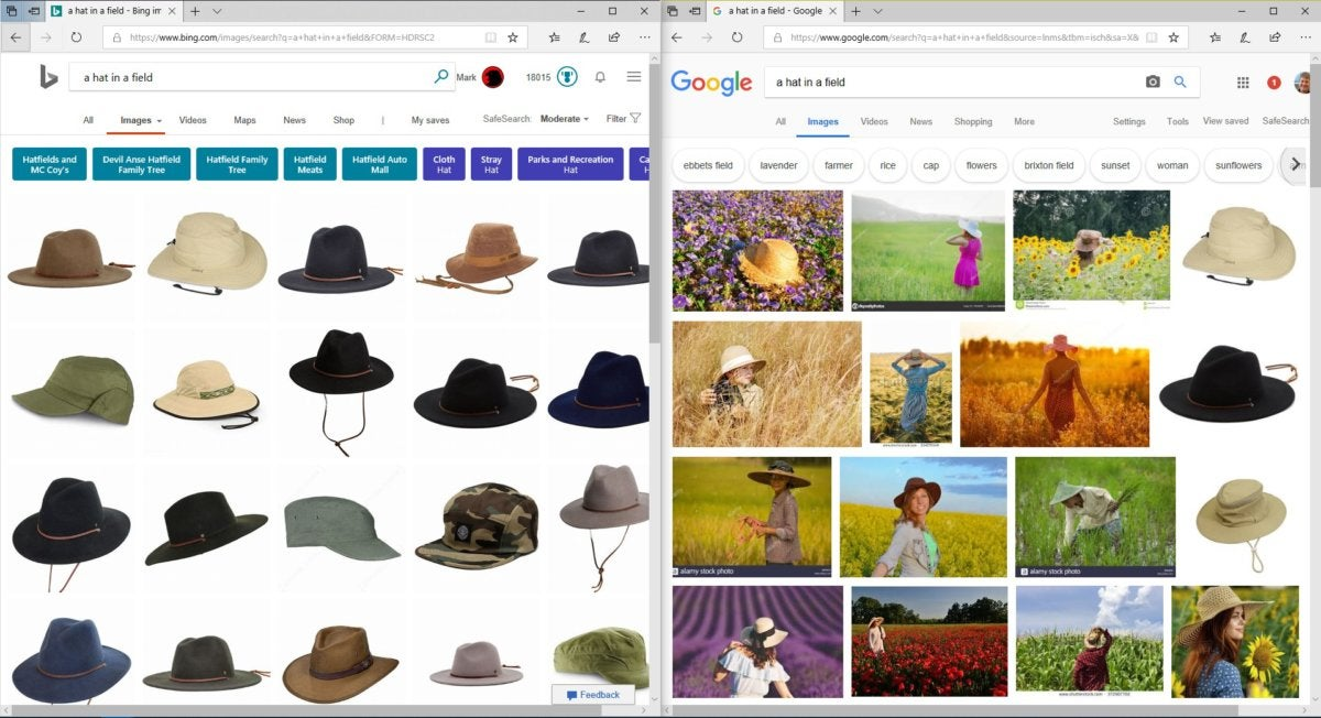 a hat in a field