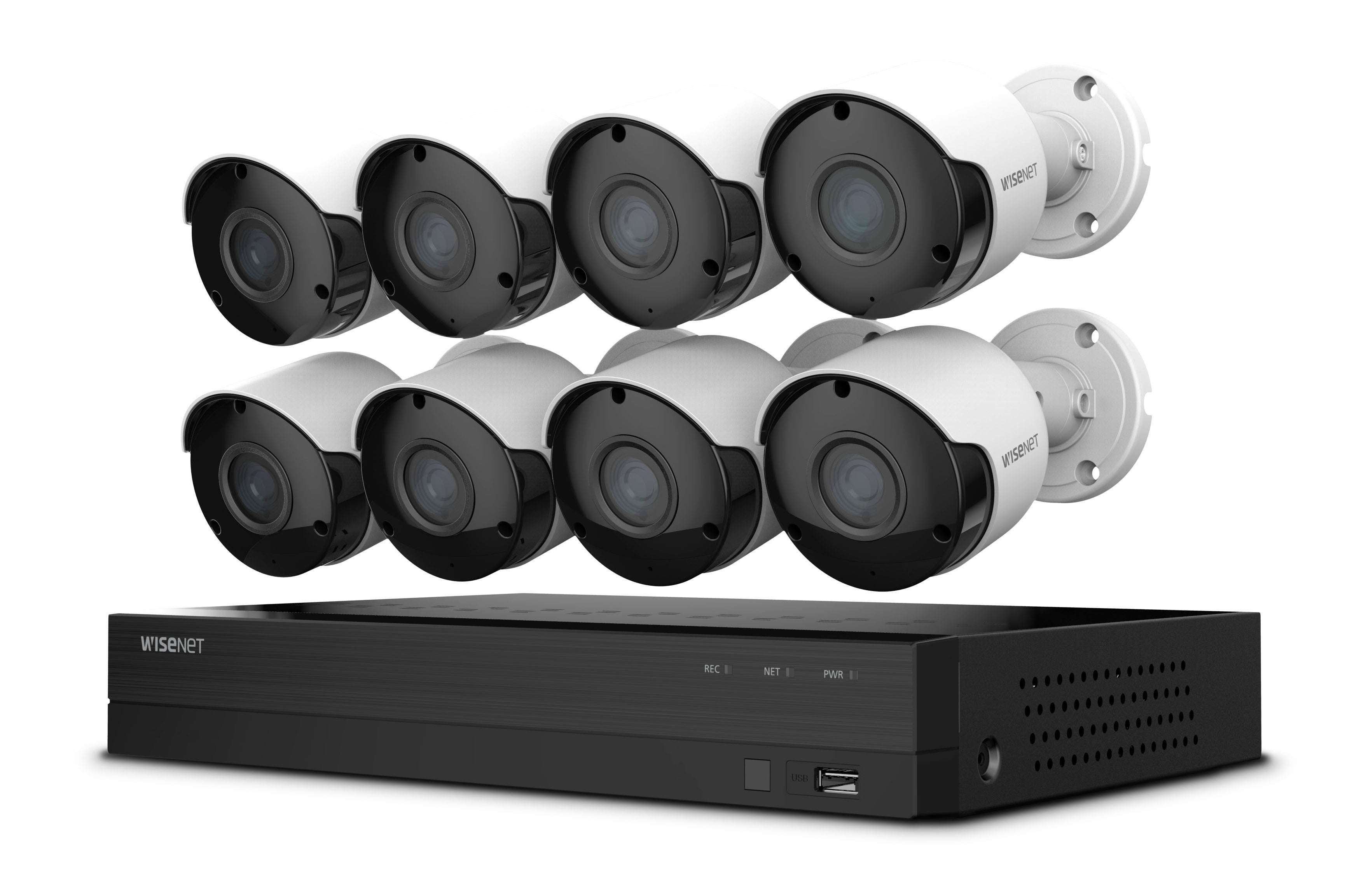 Wisenet 8 Channel 4 Camera 5mp Dvr Kit Review Wired