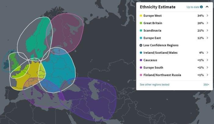ancestrydna ethnicity estimate