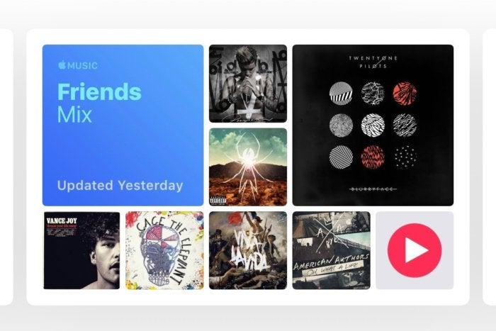 apple music friends mix