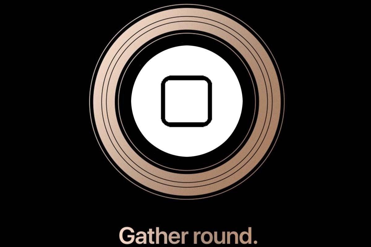 apple round home button
