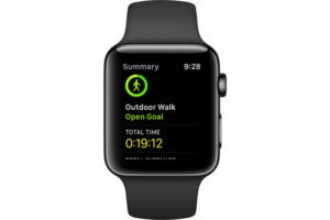 apple watch open walk summary