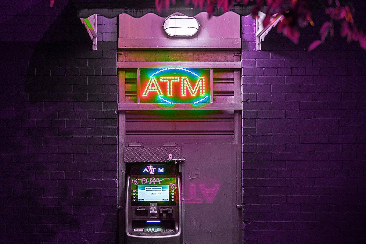ATM banking / cash / money / budget / finance