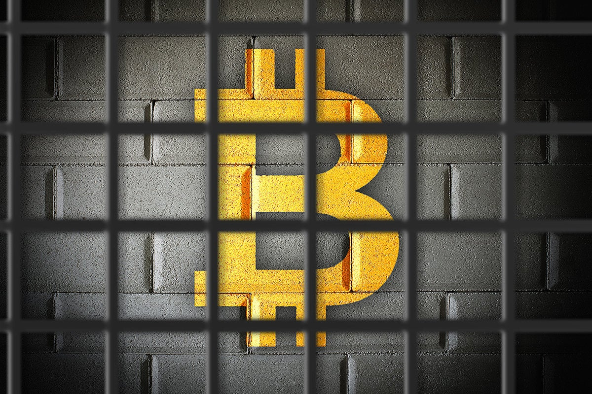 bitcoin behind bars > cryptocurrency ban or restriction