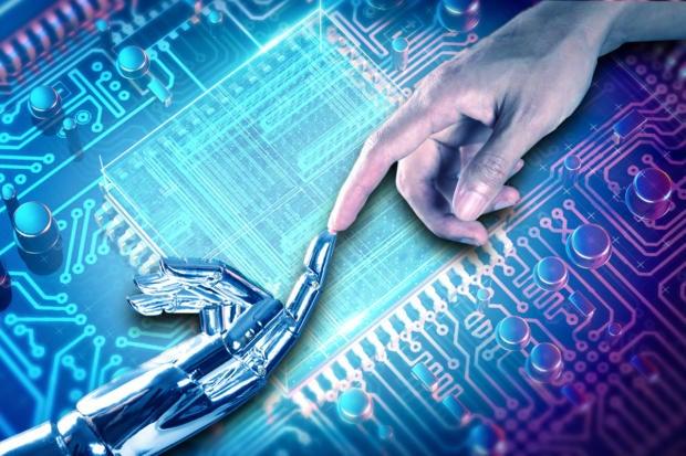 computer chip ai circuit board intel