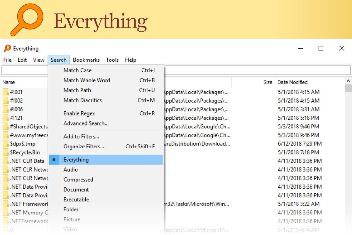 Computerworld > Windows 10 Utilities > Slide #03 > Everything