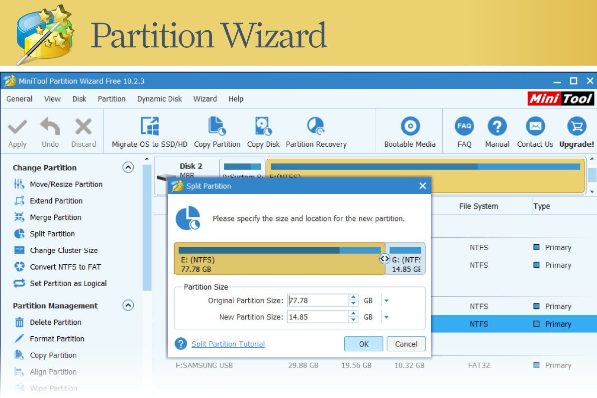 Computerworld > Windows 10 Utilities > Slide #06 > Partition Wizard