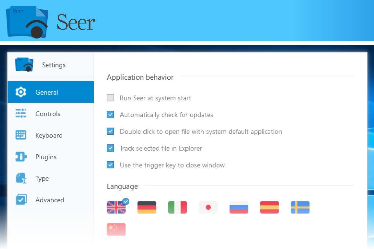 Computerworld > Windows 10 Utilities > Slide #09 > Seer