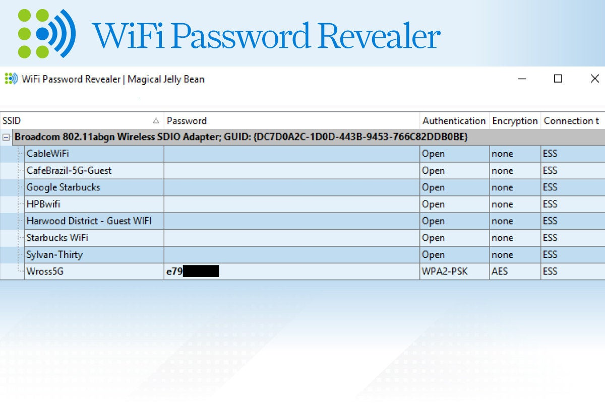 Computerworld > Windows 10 Utilities > Slide #11 > WiFi Password Revealer