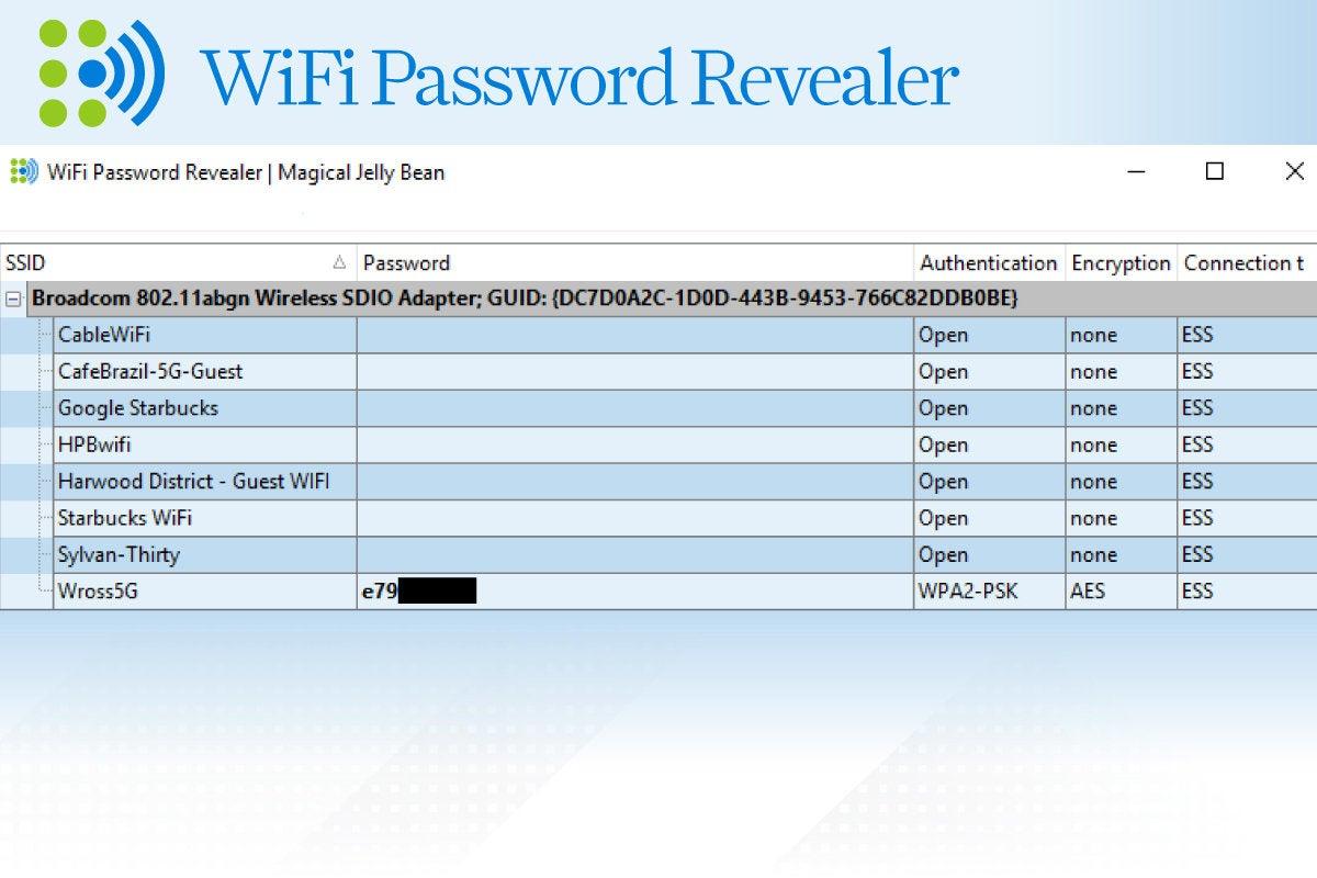 Computerworld > Windows 10 Utilities > Slide #11 > WiFi Password Revealer