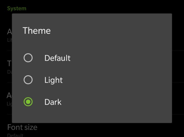 dark theme OnePlus 6