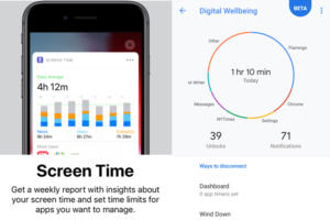 digital wellbeing screen time