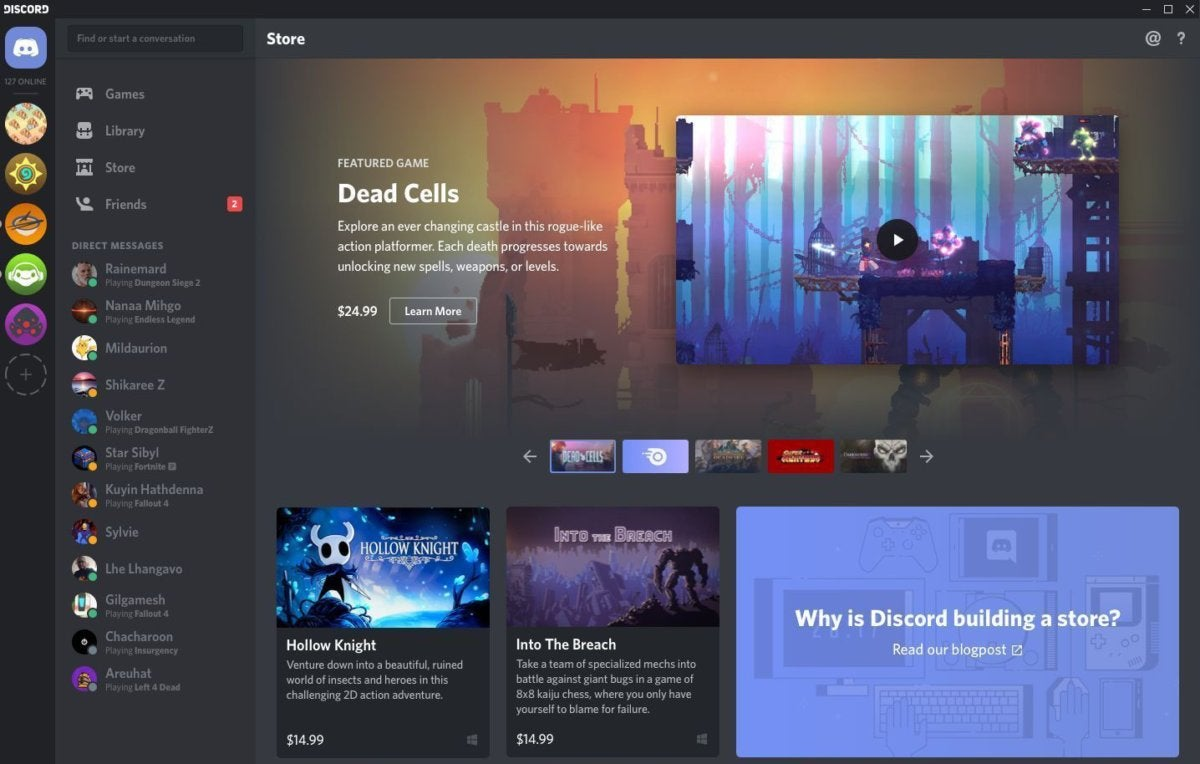 Discord starts selling PC games, unveils a universal game