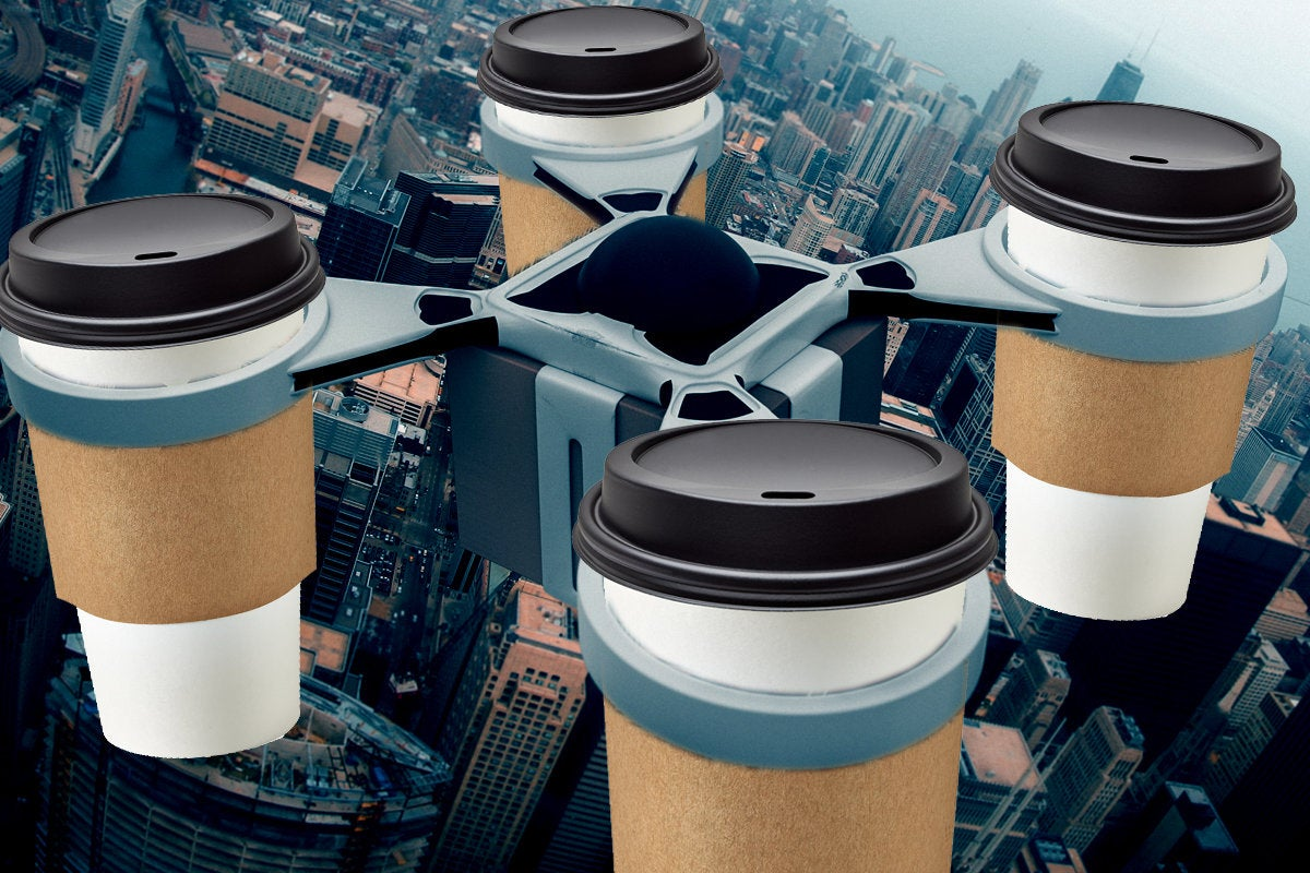 IBM coffee delivery drone patent, IoT, Internet of Things