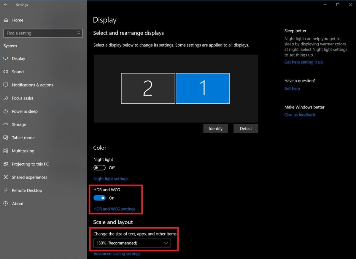 enable hdr windows 10