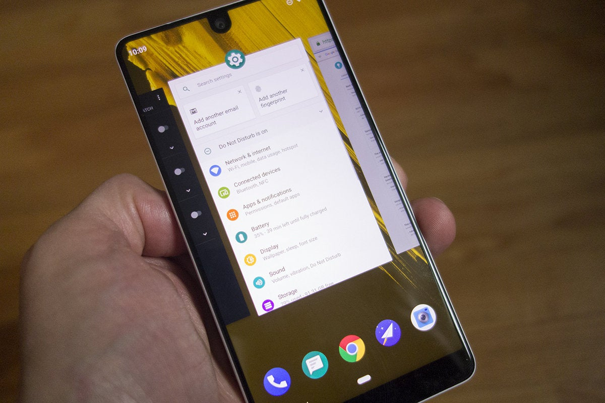 essential phone overview pie
