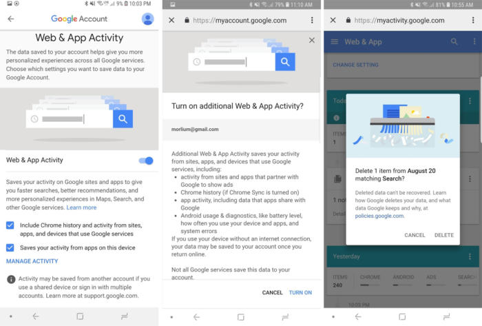 Google Privacy Checkup FAQ: How to limit tracking and still use the