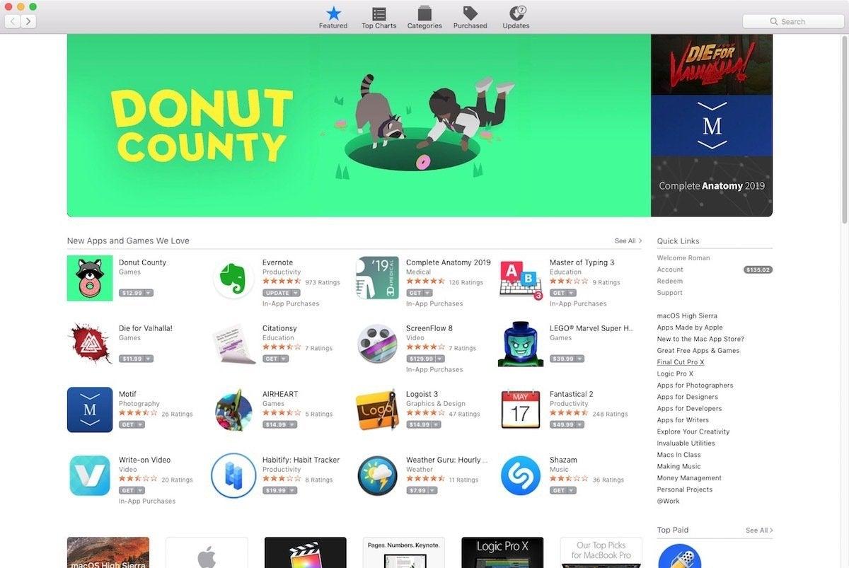 mac app store aug 2018